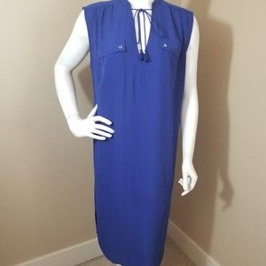 J.CREW Tassel Tie Neckline Cover Up Dress M